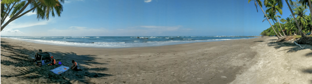 Beach to ourselves in Costa Rica