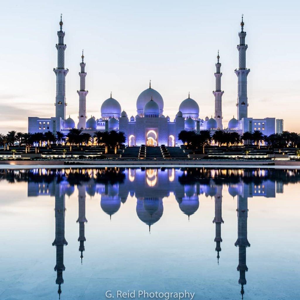 Sheikh Zayed Grand Mosque in Abu Dhabi - Photo by Garvin Reid